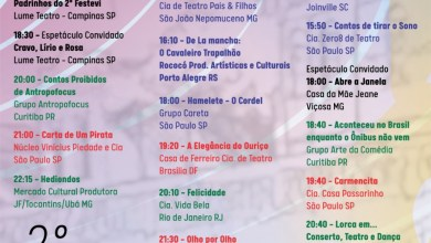 Foto de Confira a programação completa do 2º Festival de Teatro de Viçosa