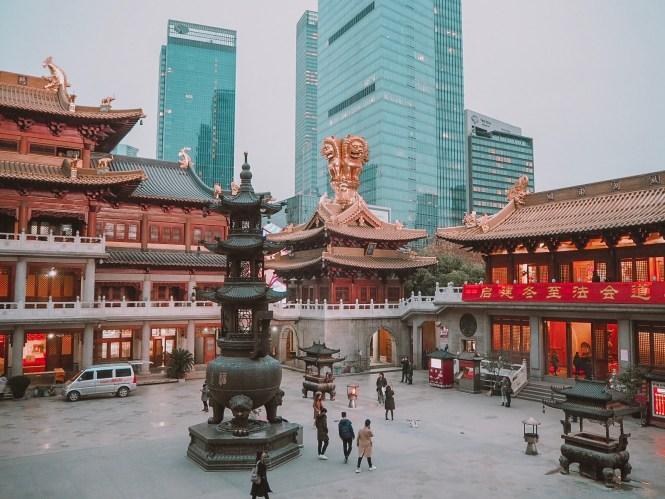 O que fazer em Xangai - templo Jing'an