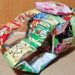 お菓子バックのリュックを作ってみた!予算1000円程度で簡単作り方!