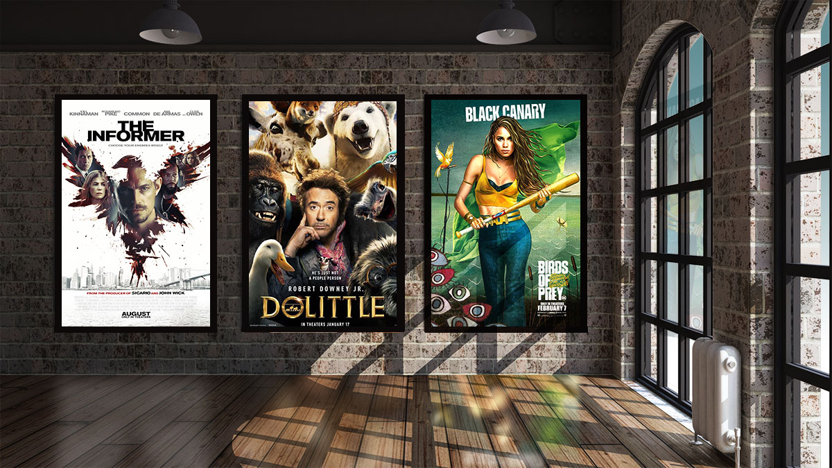 led light boxes for movie posters 27 x 40