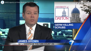 University of Dayton Germ Killing Scrubs