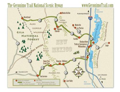Geronimo Trail Map