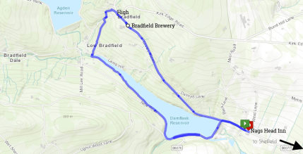 Bradfield Walk Route