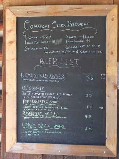 Coyote Creek Brewery Offerings