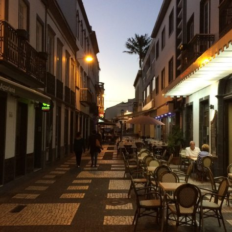 Azores Impressions -cafe street
