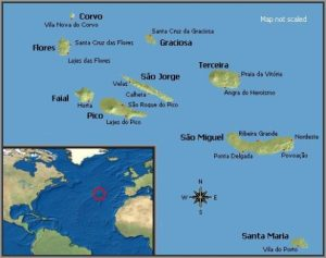 Azores Impressions map