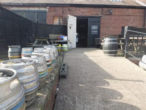 Sheffield Brewery yard