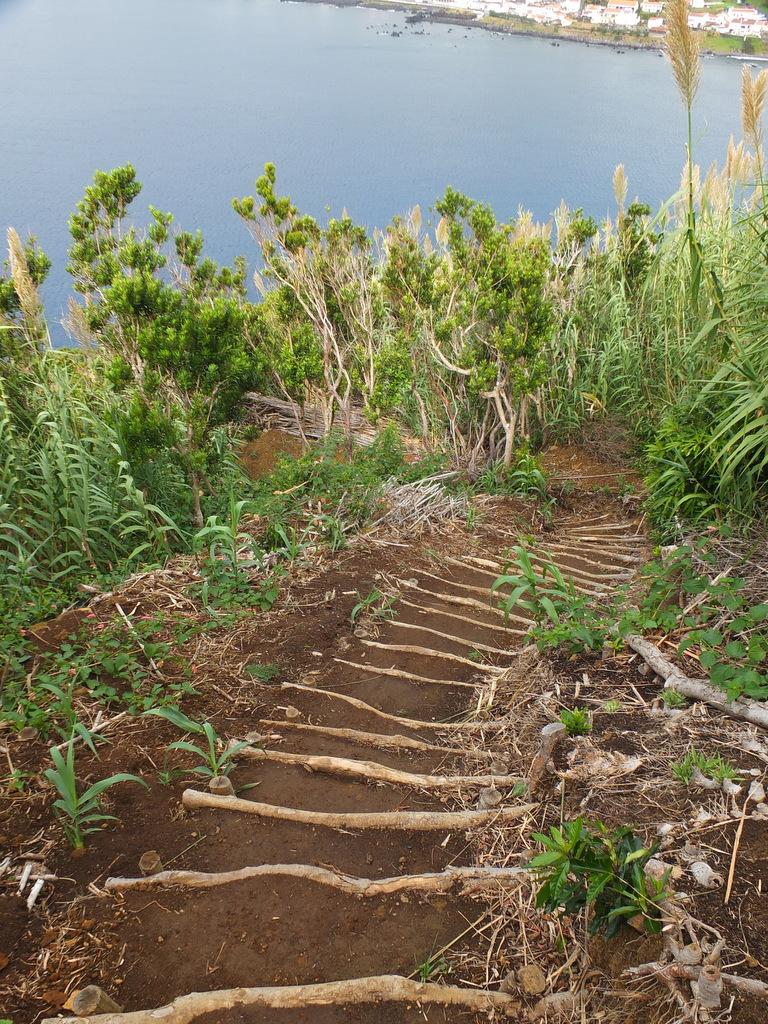 steps descending Monte da Guia