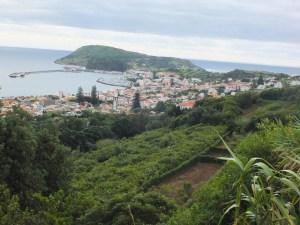 view of Horta from Canada da Praia