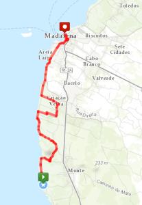 Velhas Day Hike Route
