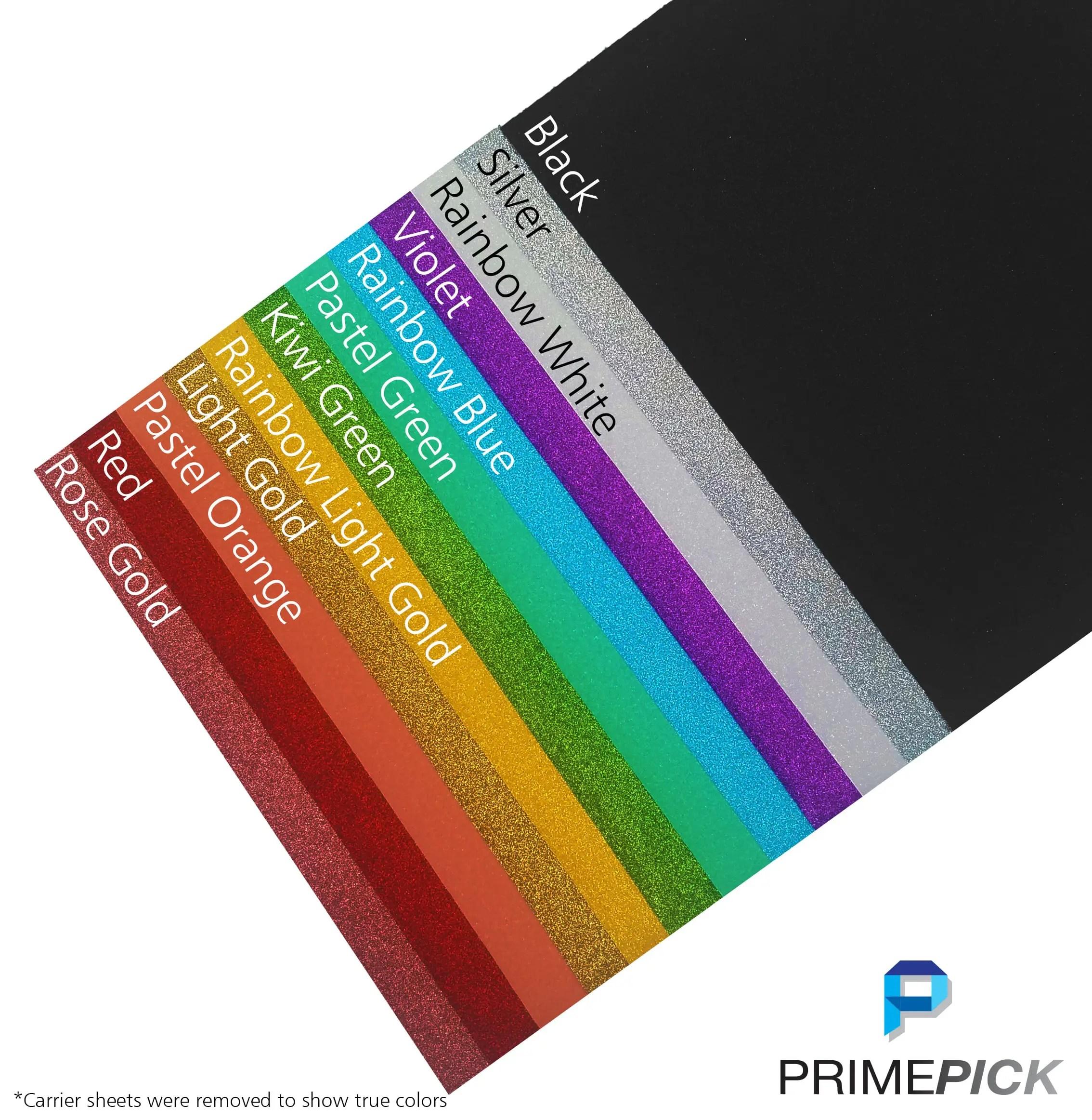 Glitter Htv Starter Pack 14 Sheets Of 10 X12 Heat Transfer Vinyl