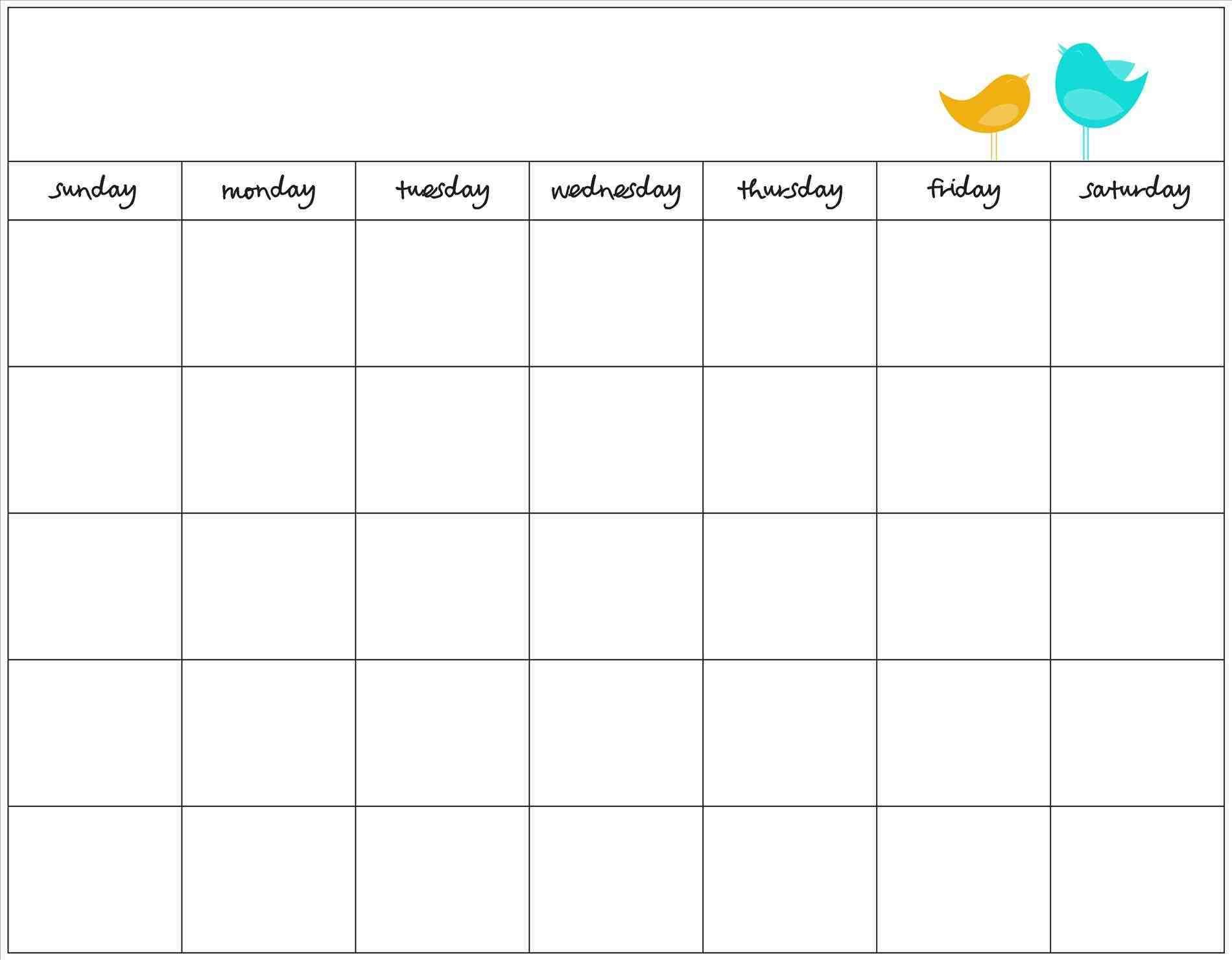 Download the printable 2020 blank monthly calendar template with enough space for the rows as microsoft word document. Cute Printable Blank Calendar Template | Calendar Template ...