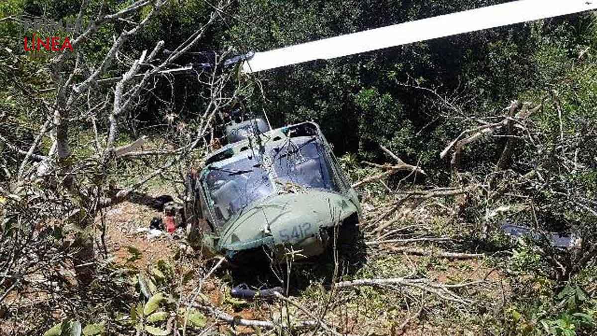 helicóptero Huey II accidente