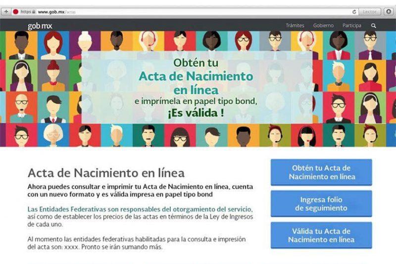 Usuarios podrán obtener actas de nacimiento en línea – Primera Plana ...