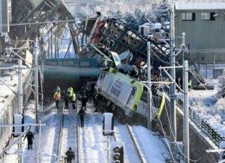 9 muertos y 47 heridos en accidente de tren en Turquía