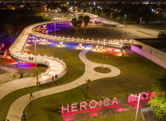 Alcalde de Matamoros inauguró la primera etapa del Parque Central