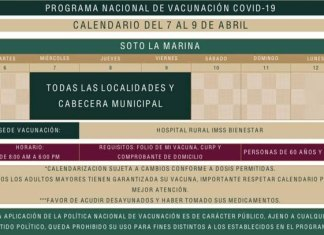Arranca segunda etapa de vacunación en la Marina y Tula