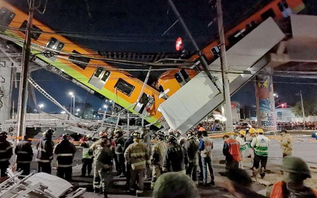 23 muertos por derrumbe en metro de CDMX