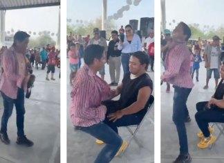 Con striptease, candidato hace campaña para gubernatura de SLP (VIDEO)