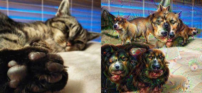 Antes y después de Deep Dream.