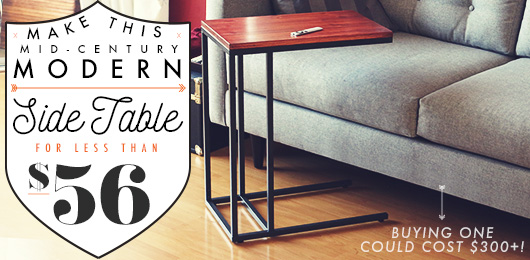 Make This Mid-Century Modern Side Table For Less Than $56