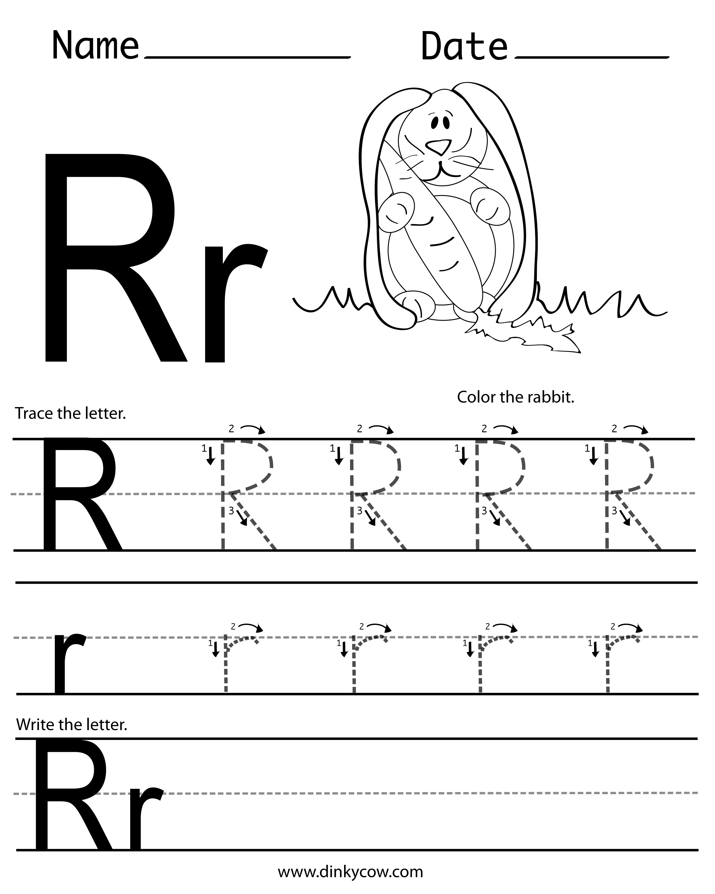 Letter Rr Worksheet Printable