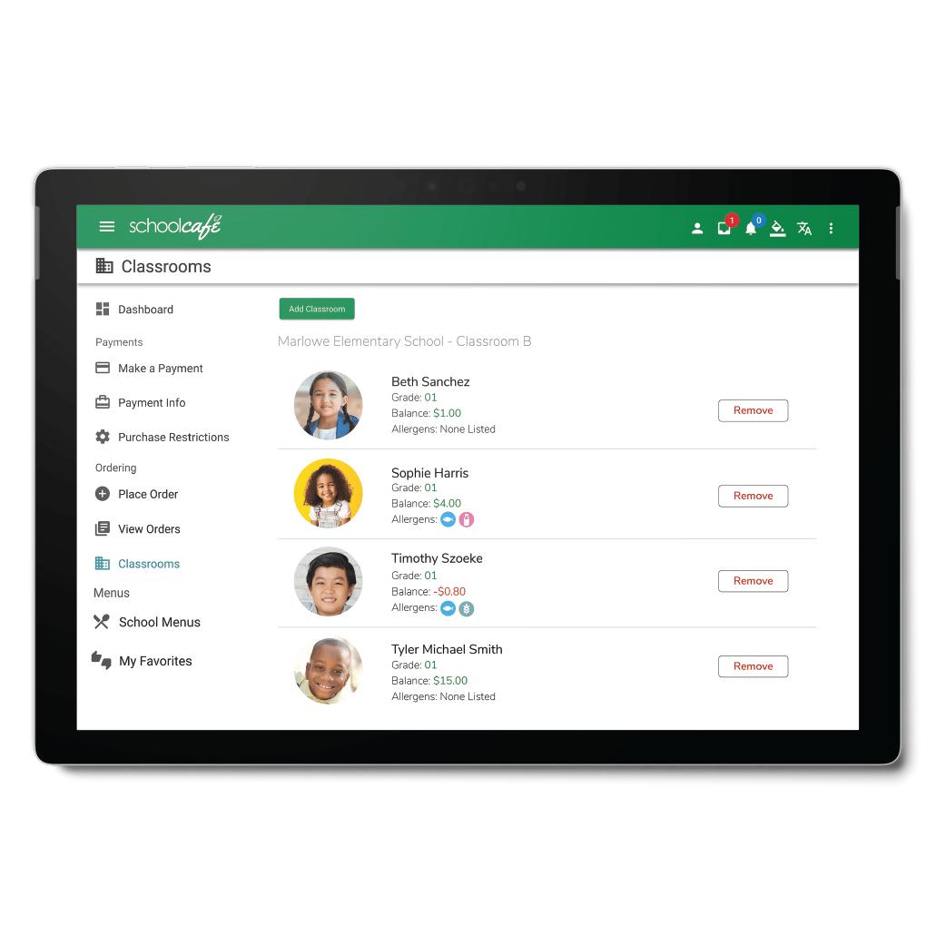 Digital Pre-Ordering - Classroom Orders