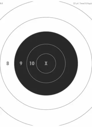 It's just an image of Nra B-8 Target Printable pertaining to 25 yard