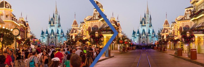 Disney fechas con menos gente