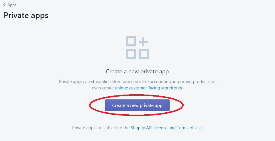 shopify product url