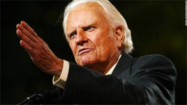 """The GREAT Billy Graham is dead"" Trump, others mourn his death."