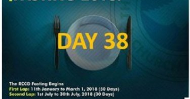 (RCCG) fasting 2018 prayer points for day 38