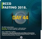 (RCCG) fasting 2018 prayer points for day 44