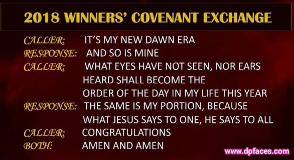 2018 Winners Covenant Exchange (Greetings) By Bishop David Oyedepo
