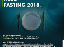 RCCG Day 20 July 2018 Fasting and Prayer