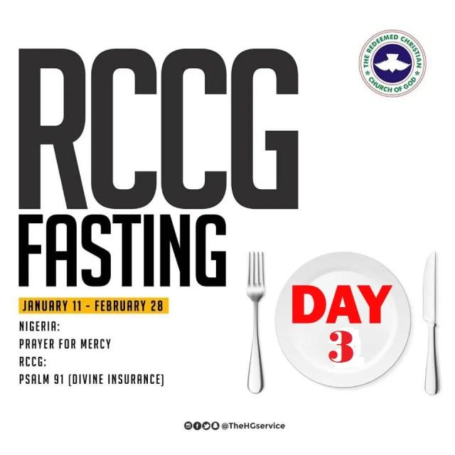 Day 3: RCCG 2019 Fasting Prayer Points – Sunday 13th Jan 2019