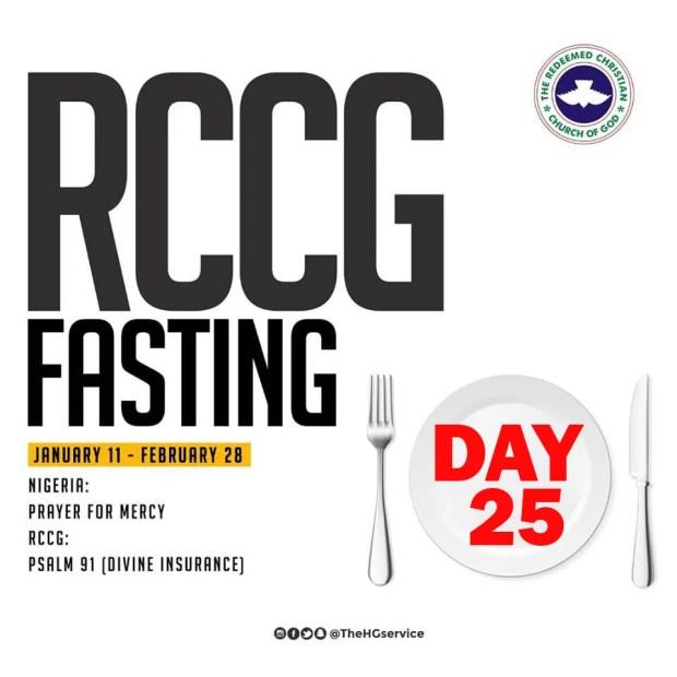 Day 25: RCCG 2019 Fasting Prayer Points