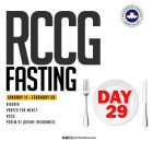 Day 29: RCCG 2019 Fasting Prayer Points – Friday 8th February 2019