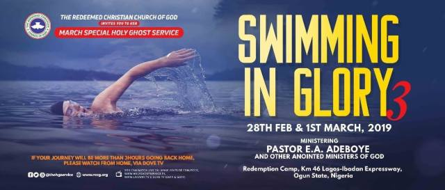 Swimming in Glory 3 RCCG March 2019 Special Holy Ghost Service