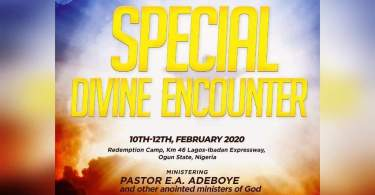 RCCG 2020 SPECIAL DIVINE ENCOUNTER
