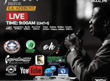 Watch Video PASTOR E.A ADEBOYE SPECIAL SUNDAY SERVICE LIVE