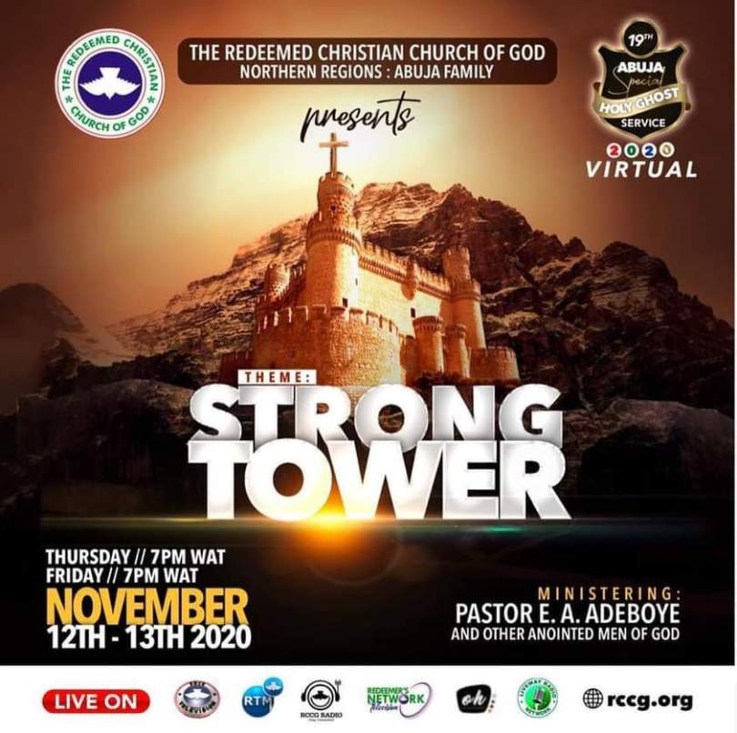 RCCG Abuja HolyGhost Service 12th - 13th of November 2020