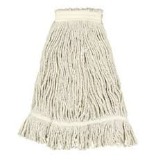 """Mop Heads Wet Zephyr Commercial Replacement 5"""" White"""