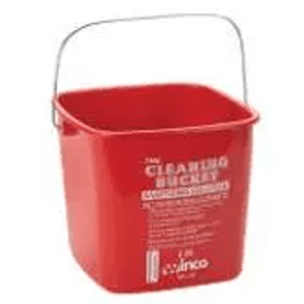 Cleaning Bucket 6-qt Winco Red Green