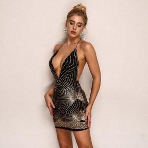 Womens Sequin Dress Black