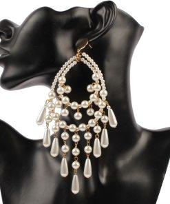womens faux pearl earrings