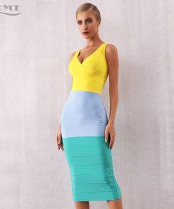womens colourful bandage dress