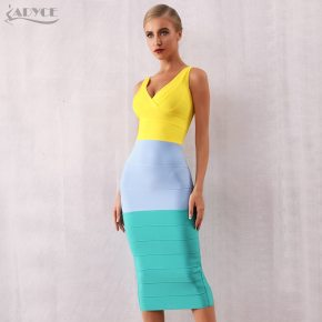 womens colourful bandage dress