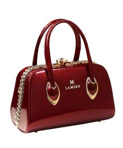 Deep Red Clutch Handbag