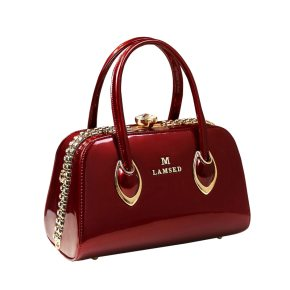 Deep Red Clutch Handbag